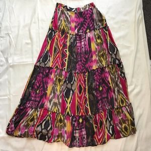 Miss Sixty Made in Italy Maxi Skirt Multicolored